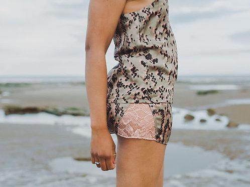 Rebecca J Mills - Scaled 2 Print - Shorts Silk Cotton Mix
