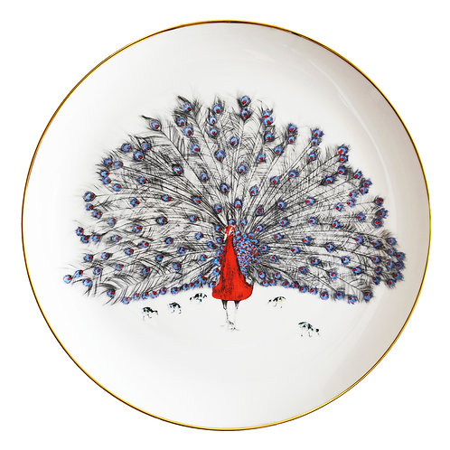 Susannah Weiland Collections  - Patrick Peacock Bone China Plate