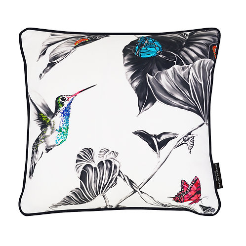 Susannah Weiland Collections - Henry The Hummingbird Hand Embroidered Cushion