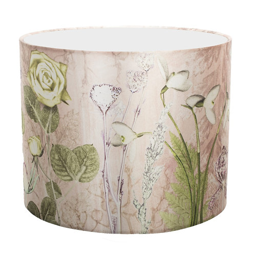 Gillian Arnold - Mother's Pink Bouquet | Rose Pink & Green Lamp Shade