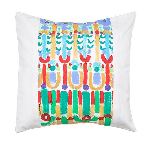 Le Botteghe d'Arte Hand Painted Artisan Cushion