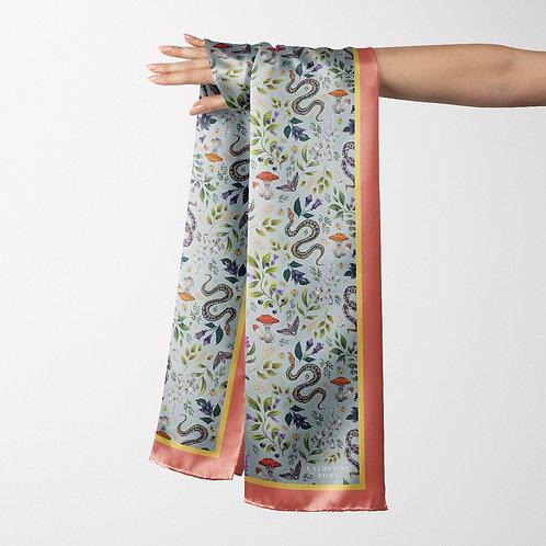 Catherine Rowe - Vegan Silk Oblong Scarf in Poisonous Pattern
