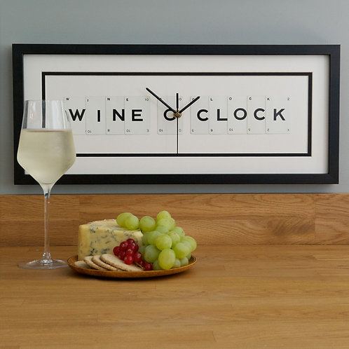Vintage Playing Cards Clock - Wine O'Clock