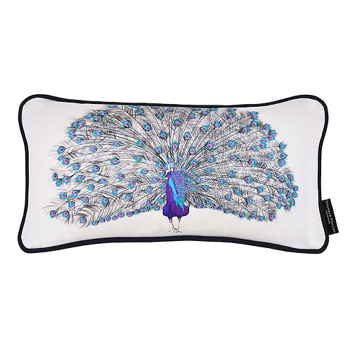Susannah Weiland Collections - Pablo The Peacock Hand Embroidered Beaded Cushion