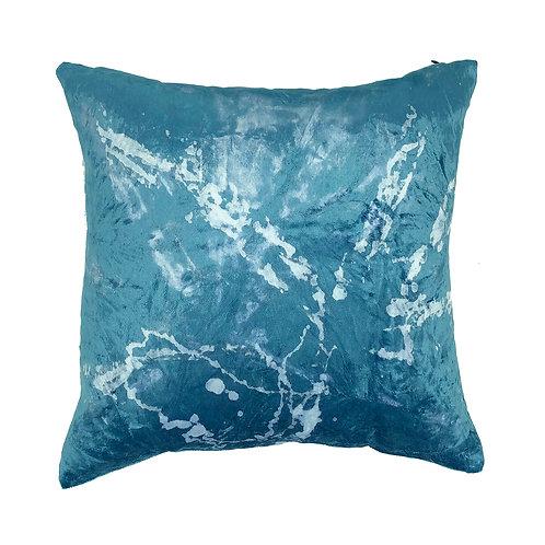 Stranger Than Them - Stardust Blue Square Velvet Cushion