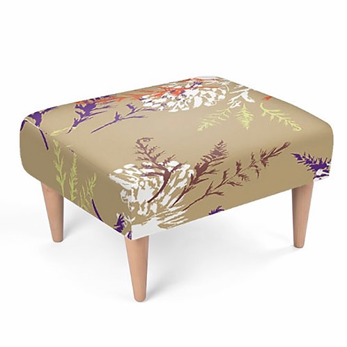 Elaine Collins 'Autumn Fern' Sustainable Footstool