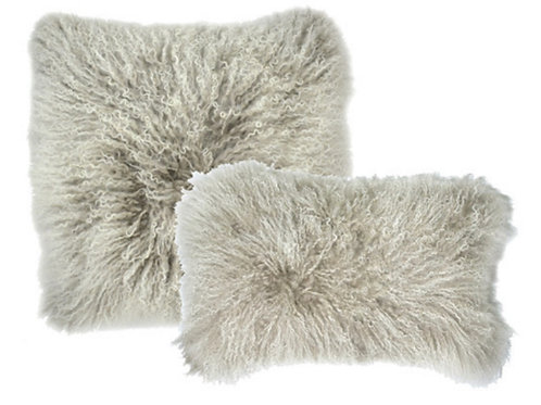 Aviva Stanoff Luxe Fur Mongolian Double Dipped Silver