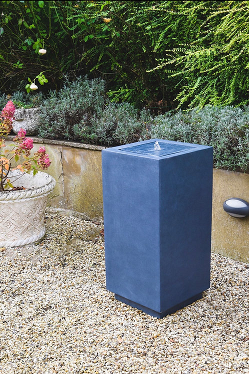 Outdoor Elite LED Square Water Feature Granite H78Cm