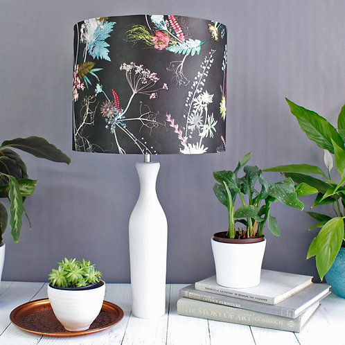 Gillian Arnold - Edwardian Blooms | Dark Chocolate & White Light Shade
