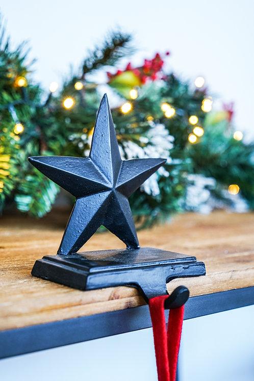 Stocking Holder Star - Black - 17cm