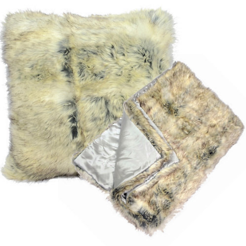 Aviva Stanoff Stone Cold Fox Fur Cushion