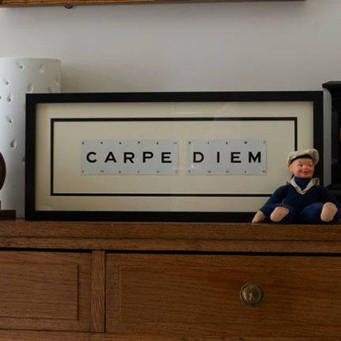 Vintage Playing Cards Frame - Carpe Diem