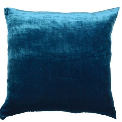 Aviva Stanoff Solid Silk Velvet Sapphire Cushion