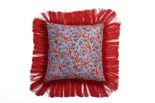 Bivain Lobster Chintz Silk Cushion