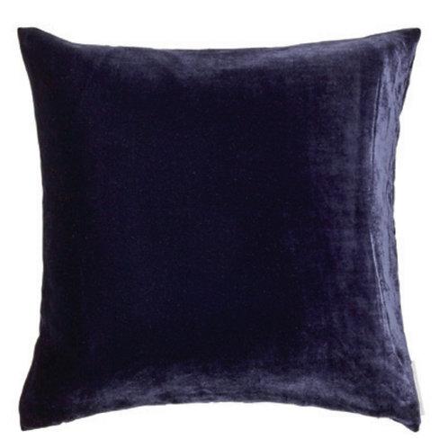 Aviva Stanoff Solid Silk Velvet in Indigo Cushion