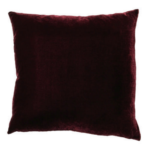 Aviva Stanoff Solid Silk Velvet Eggplant Cushion