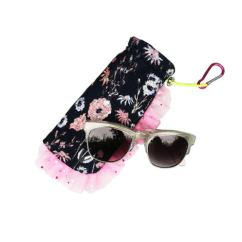 Strange Than Them Edna Botanical Jacquard Ruffle Glasses Case