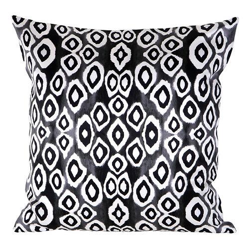 Mariska Meijers - Coco Ikat Black Silk Square pillow