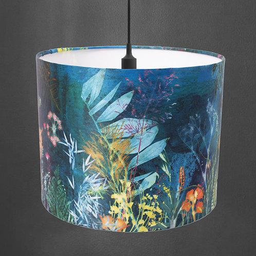 Aqua Turquoise Botanical Lampshade