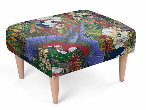 Elaine Collins Design 'Tropical Paradise ' Sustainable Footstool