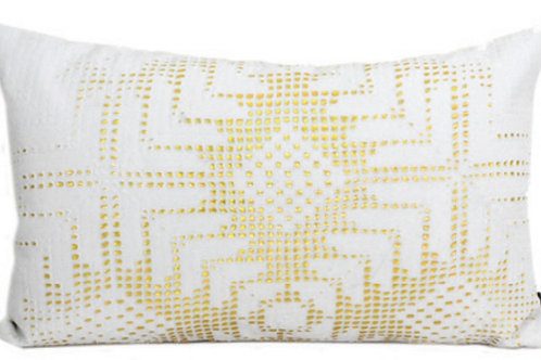 Aviva Stanoff Rockstar Gold Aztec Lace on White