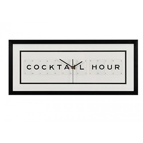 Vintage Playing Cards Clock - Cocktail Hour