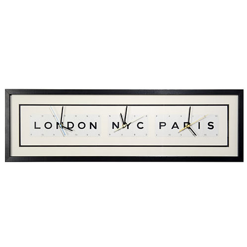 Vintage Playing Cards World Clock - London NYC Paris