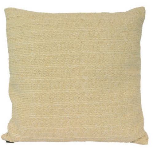Aviva Stanoff Outdoor in Oasis Pillow in Straw with Gold Detail