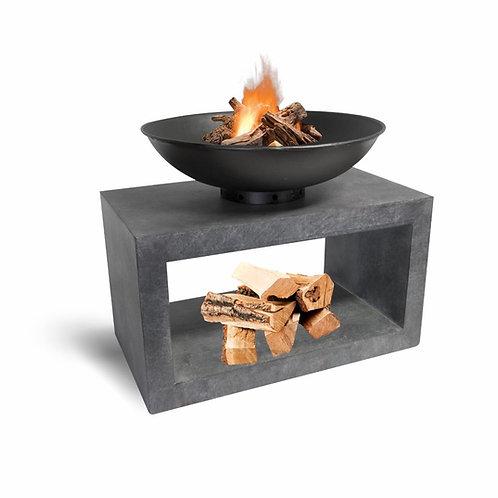Firebowl & Rectangle Console Cement 50cm