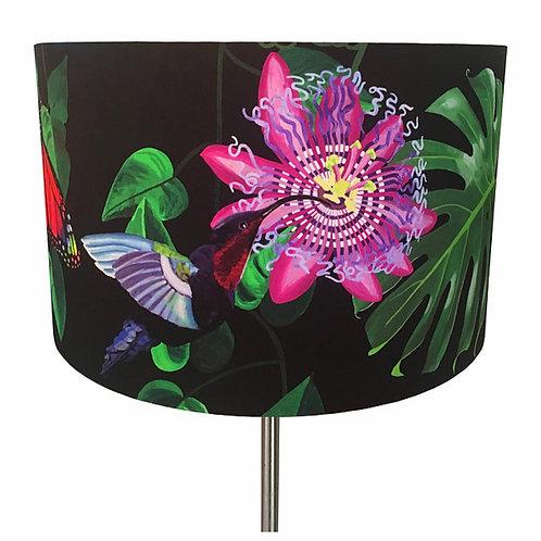 Katie Victoria Brown - Fleurs de La Soir, Hummingbird and Butterflies Lampshade