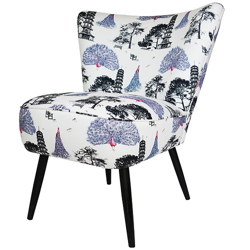 Susannah Weiland Collections  - Kew Peacocks Cocktail Chair