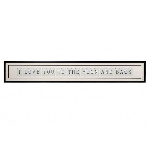 Vintage Playing Cards Frame - I love you to the moon and back