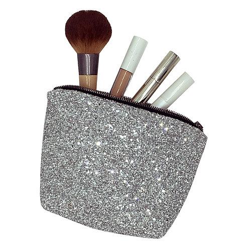 Stranger Than Them - OPHELIA Silver Glitter Make Up Bag