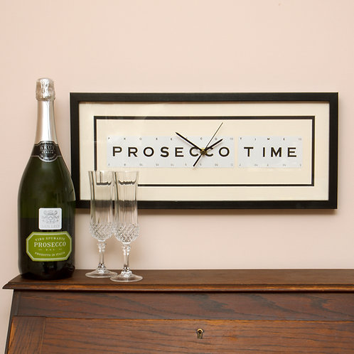 Vintage Playing Cards Clock - Prosecco Time