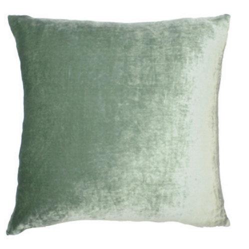 Aviva Stanoff Solid Silk Velvet Sage Cushion