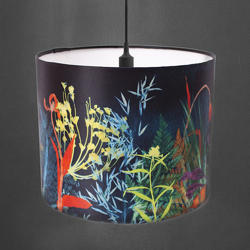 Gillian Arnold - Secret Garden | Dark Floral Print Light Shade