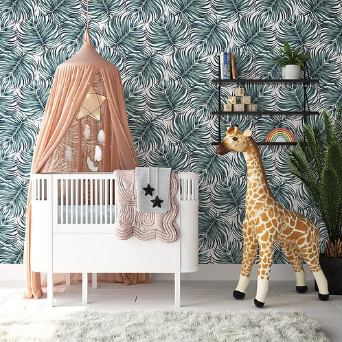 Botanical Palm Wallpaper