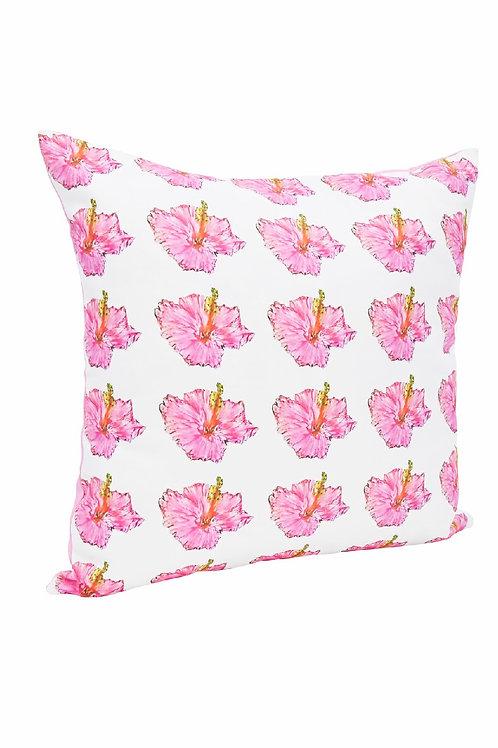 Hibiscus Cushion by Monique Lucas