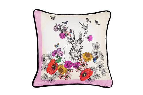 Bivain Stag Silk Cushion