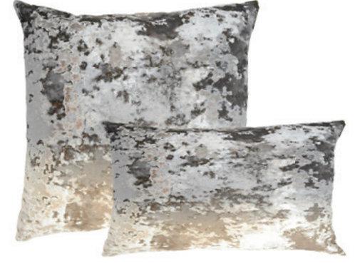 Aviva Stanoff Textile Library Ombre Smolder on Crushed Velvet Taupe