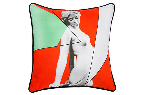 Bivain Siren Red Cotton Cushion