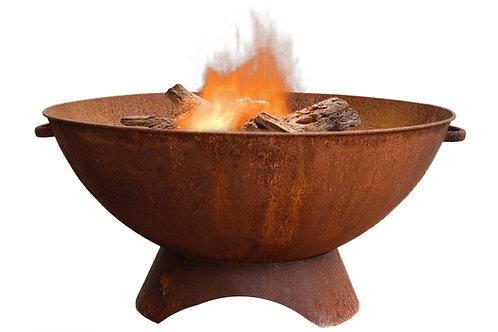 Rust Iron Firebowl