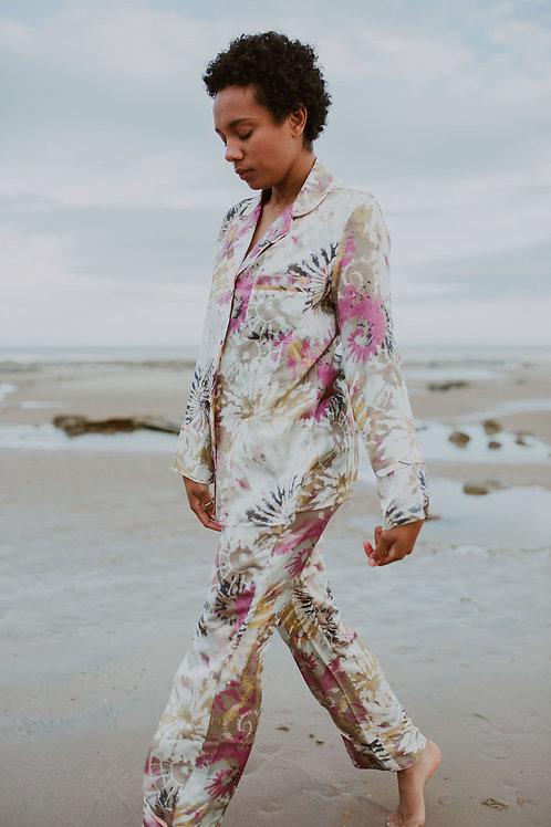 Rebecca J Mills - Dream Print - Pyjama Top Silk Cotton Mix