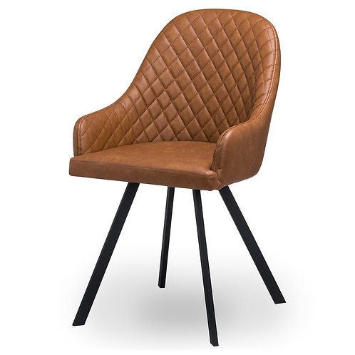 Stockholme Chequered Tan Dining Chair