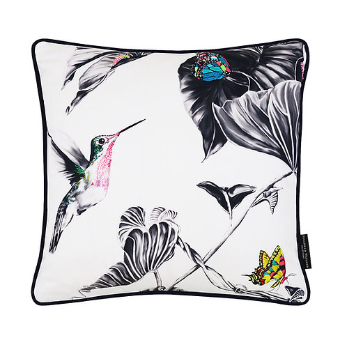 Susannah Weiland Collections - Howard The Hummingbird Hand Embroidered Cushion
