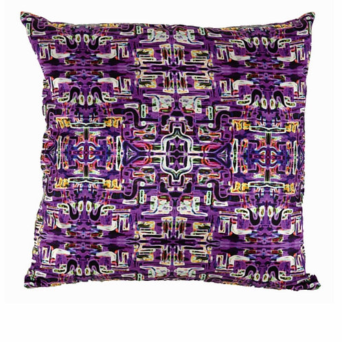 Mariska Meijers - Jungle Fever Purple Silk Square pillow