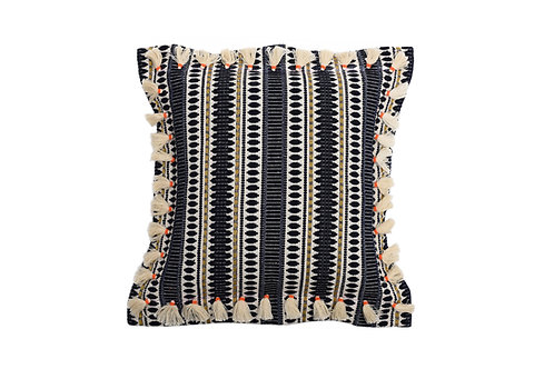 Bivain Bedawi Navy Cotton Cushion