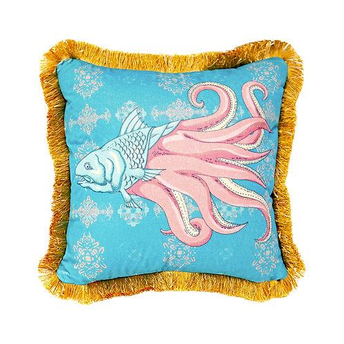 GuanAnAn - London - He Luo Cushion - in Blue
