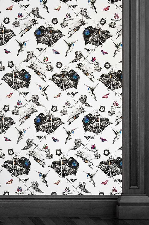 Susannah Weiland Collections - Multi Hummingbirds Wallpaper