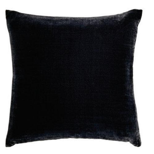 Aviva Stanoff Solid Silk Velvet Charcoal Cushion